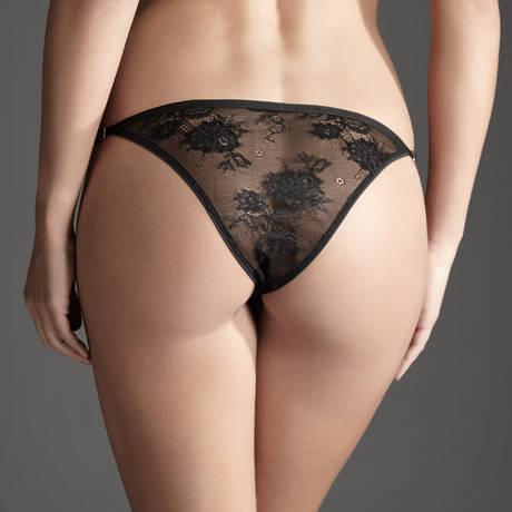 ATELIER AMOUR Slip Irrésistible Attraction Noir