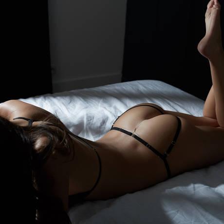 ATELIER AMOUR Culotte ouverte Irrésistible Attraction Noir