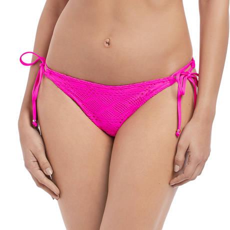 FREYA Maillot de bain slip lacets Sundance Hot Pink