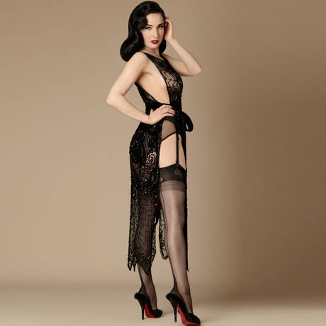 DITA VON TEESE Bas nylon Full Fashioned Noir