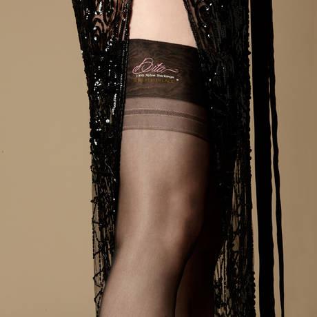 DITA VON TEESE Bas nylon Heel Full Fashioned Noir