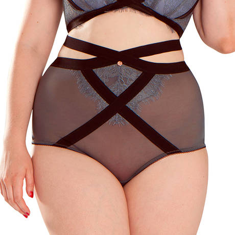 SCANTILLY Culotte haute Captivate Slate