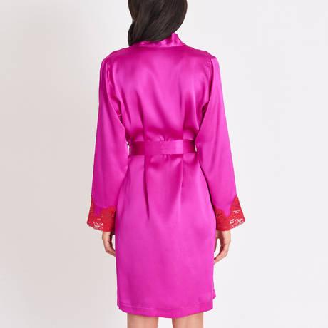 AUBADE Déshabillé kimono en soie Crépuscule Satiné Envie