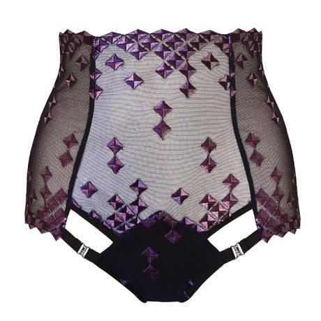 BORDELLE Culotte haute ouverte Square Lace Violet