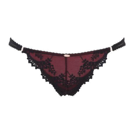GOSSARD Slip VIP Embroidery Black/Ruby