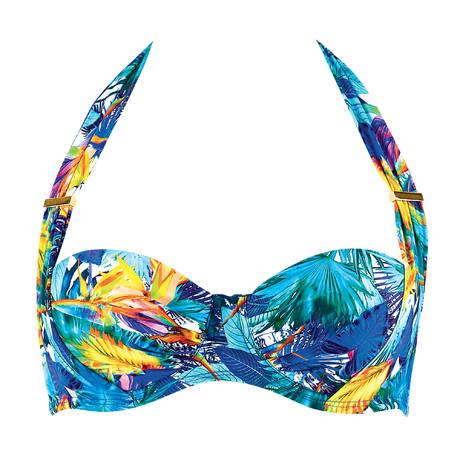 AUBADE Maillot de bain corbeille Fleur Tropicale Bleu Eden