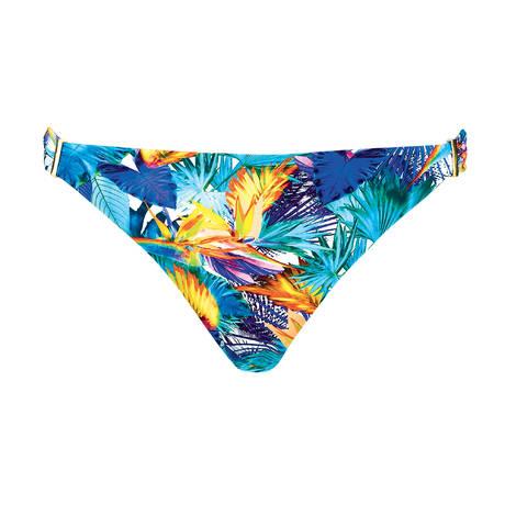AUBADE Maillot de bain slip brésilien Fleur Tropicale Bleu Eden