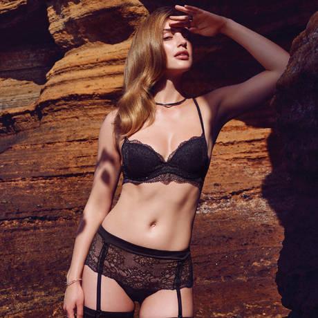 MARIE JO Culotte porte-jarretelles Precious Noir
