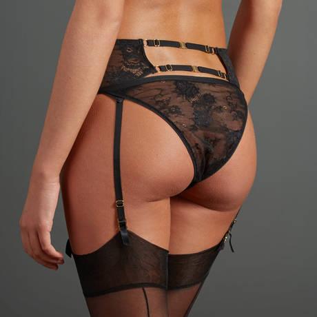 ATELIER AMOUR Porte-jarretelles Irrésistible Attraction Noir