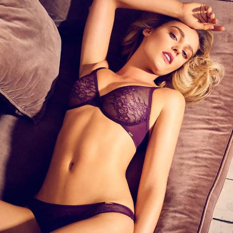 GOSSARD Soutien-gorge moulé Glossies Lace Dark Purple