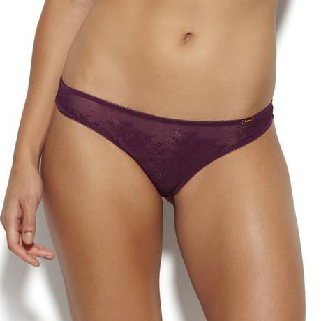 GOSSARD String Glossies Lace Dark Purple