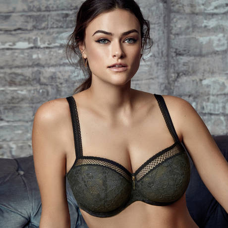 PRIMADONNA TWIST Soutien-gorge balconnet coutures verticales Tough Girl Moss