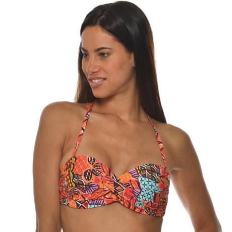 BANANA MOON Maillot de bain bandeau coques Havana Madeiro Orange