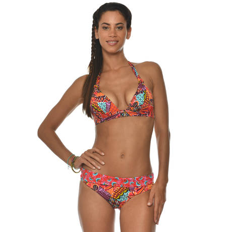 BANANA MOON Maillot de bain culotte réversible Havana Madeiro Orange