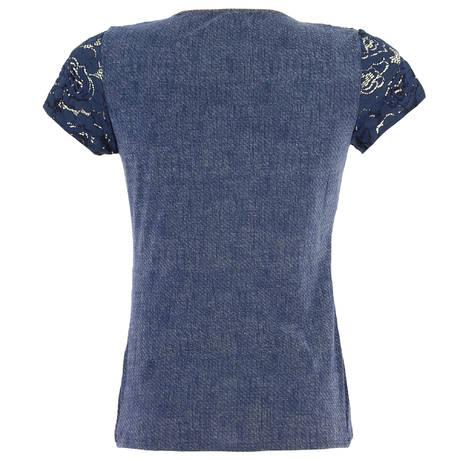ANTIGEL Top manches courtes Sweet Lace Bleu Nuit
