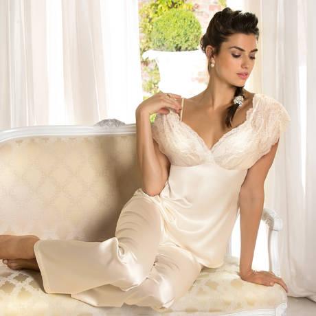 LISE CHARMEL Pyjama en soie Exception Charme Nacre