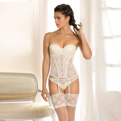 LISE CHARMEL String sexy en soie Exception Charme Nacre