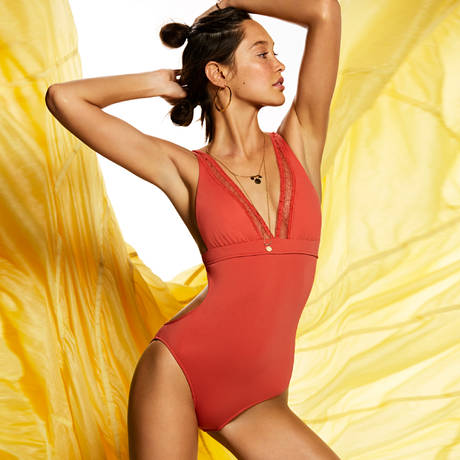 SEAFOLLY Maillot de bain 1 pièce Wild At Heart Spice