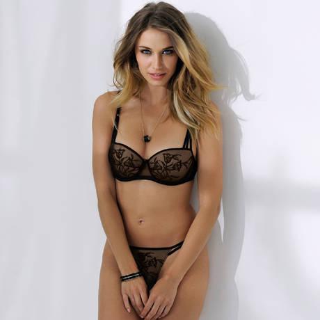 ANTINÉA String sexy Liens Désirs Noir