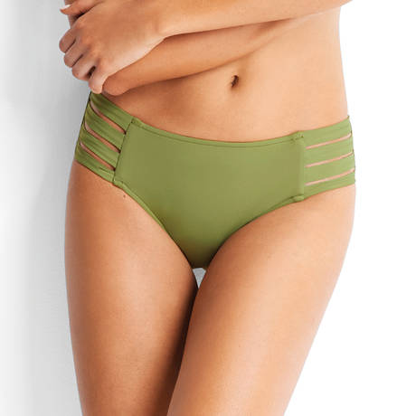 SEAFOLLY Maillot de bain culotte hipster multi liens Active Moss