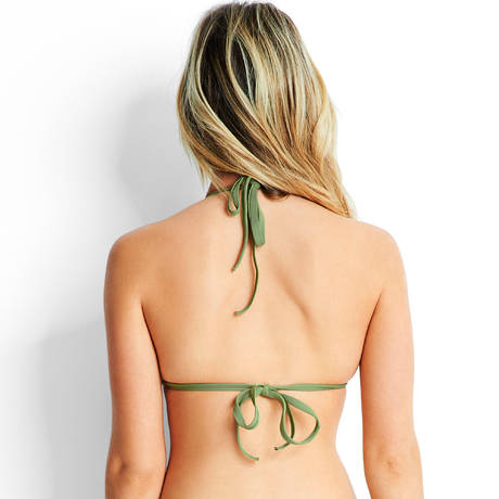 SEAFOLLY Maillot de bain triangle à armatures Active Moss
