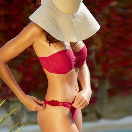 AUBADE Maillot de bain Mini-Coeur Eclat d'Oasis Rouge Perse