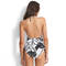 SEAFOLLY Maillot de bain 1 pièce triangle coques Palm Beach Noir
