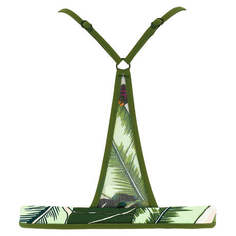 SEAFOLLY Maillot de bain coques décolleté profond Palm Beach Moss