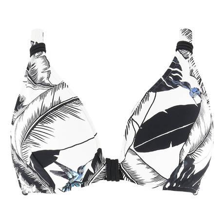 SEAFOLLY Maillot de bain triangle armatures grandes tailles Palm Beach Noir
