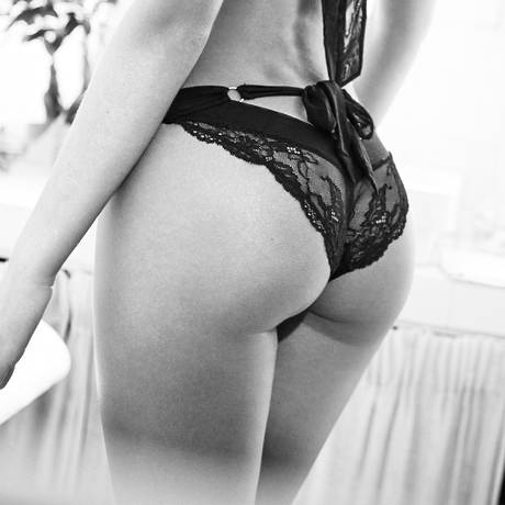 ATELIER AMOUR Culotte Fenêtre sur Cour Noir