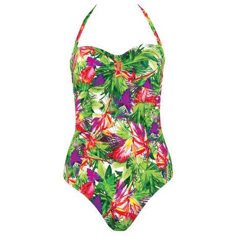 AUBADE Maillot de bain 1 pièce Fleur Tropicale Paon