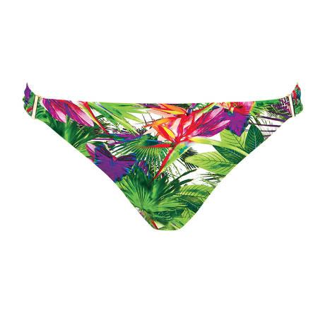AUBADE Maillot de bain slip brésilien Fleur Tropicale Paon