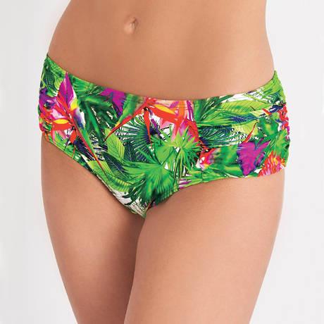 AUBADE Maillot de bain shorty Fleur Tropicale Paon