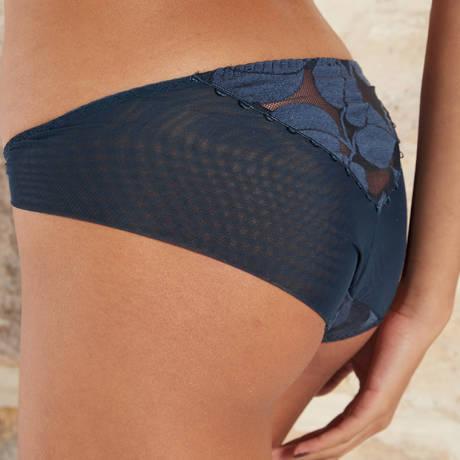 BARBARA Slip Effeuillage Bleu Jean