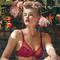 BARBARA Soutien-gorge push-up foulard Effeuillage Rouge Piment
