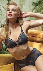 Barbara Effeuillage Bleu Jean