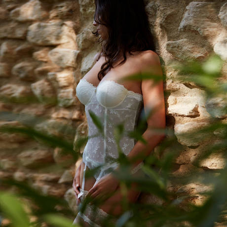 AUBADE Guêpière Belle d'Ispahan Perle