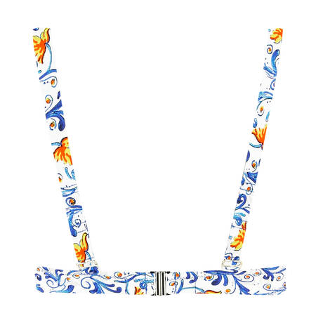 ANTIGEL Maillot de bain armatures triangle La Folie Azulejos Citron Fleuri