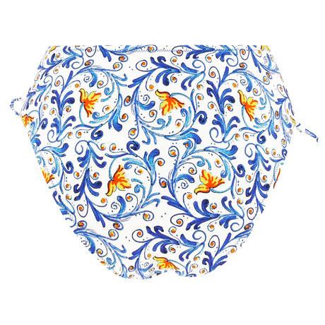 ANTIGEL Maillot de bain slip coulisse La Folie Azulejos Citron Fleuri