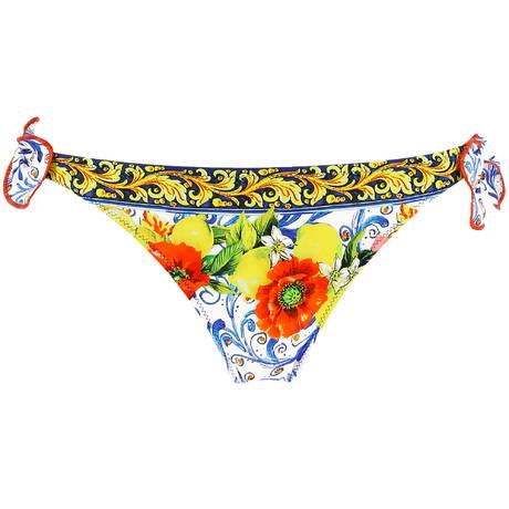 ANTIGEL Maillot de bain slip lacets La Folie Azulejos Citron Fleuri
