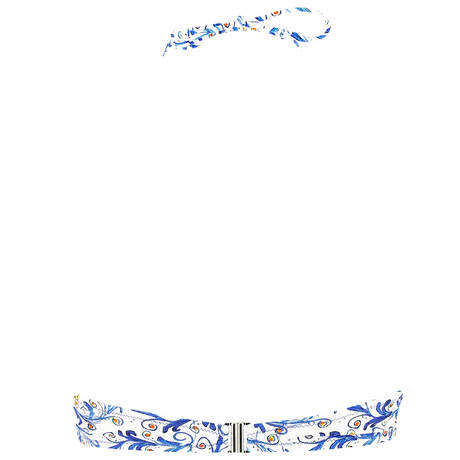 ANTIGEL Maillot de bain bandeau coques La Folie Azulejos Citron Fleuri