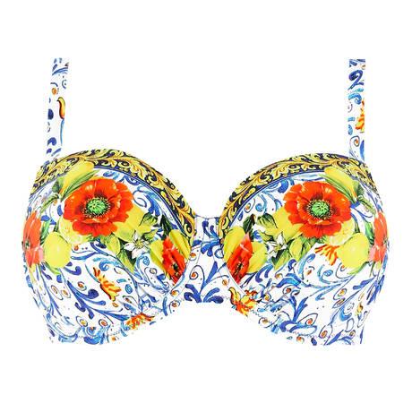ANTIGEL Maillot de bain coques light bonnets profonds La Folie Azulejos Citron Fleuri