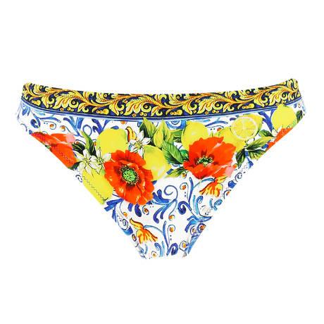 ANTIGEL Maillot de bain slip charme La Folie Azulejos Citron Fleuri