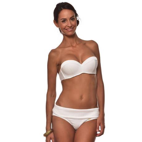 LIVIA Maillot de bain bandeau coques Mantova Blanc