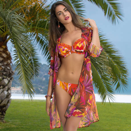 LISE CHARMEL Maillot de bain corbeille fitting Aquarelle Nautique Mangue Aquarelle