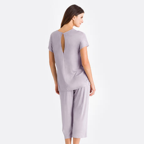 HANRO Pyjama Rose Ginger Grey