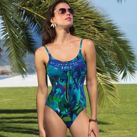 LISE CHARMEL Maillot de bain 1 pièce nageur sans armature Aquarelle Nautique Tahiti Aquarelle