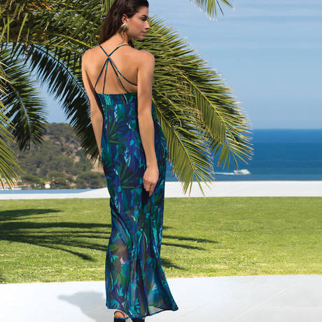 LISE CHARMEL Robe de plage longue Aquarelle Nautique Tahiti Aquarelle