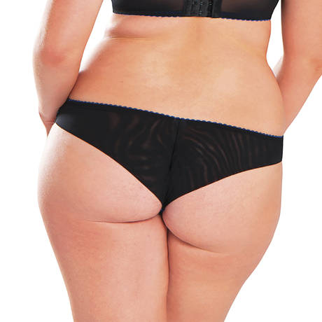 CURVY KATE Slip Sheer Joy Black Print