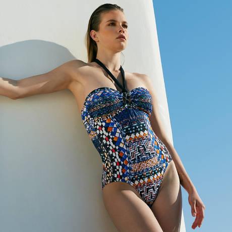 SORAYA Maillot de bain 1 pièce coques Stella Florence Multicolore